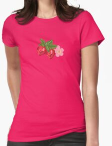 Strawberry Botanical Womens Fitted T-Shirt
