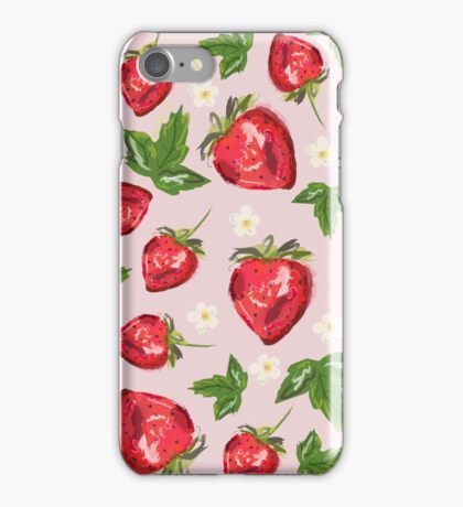 Strawberry Botanical iPhone Case/Skin