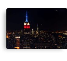 Empire State Building at Night, New York Canvas Print
