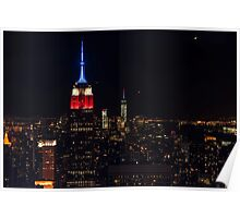 Empire State Building at Night, New York Poster