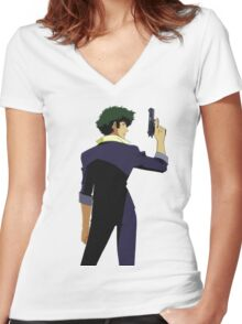 COWBOY BEBOP #10 Women's Fitted V-Neck T-Shirt