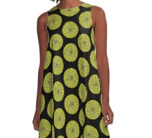 Op Art - Yellow and Black A-Line Dress