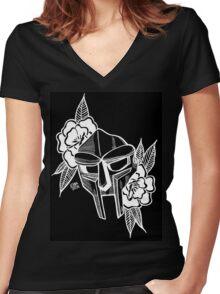 Doom & Roses Women's Fitted V-Neck T-Shirt