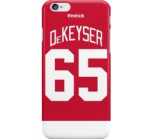 Detroit Red Wings Danny DeKeyser Jersey Back Phone Case iPhone Case/Skin