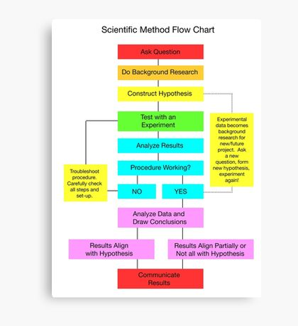 Scientific Method Flow Chart Canvas Print