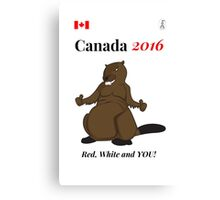Rio Olympics 2016 Team Canada shirts designed by Canadians. Canvas Print