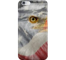 Patriot-Bald Eagle And American Flag iPhone Case/Skin