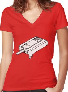 VHSicle Women's Fitted V-Neck T-Shirt
