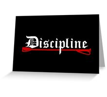 Discipline, BDSM whip Greeting Card