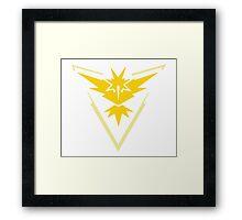 Pokemon Go - Team Instinct emblem Framed Print