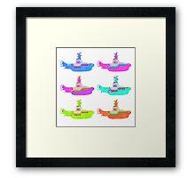 The Beatles' Yellow Submarine pop art theme Framed Print