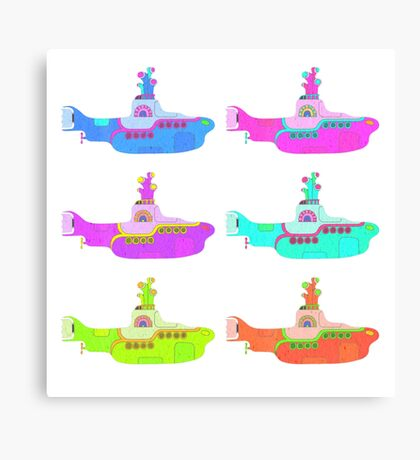 The Beatles' Yellow Submarine pop art theme Canvas Print