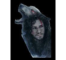 Jon Snow and Ghost Photographic Print