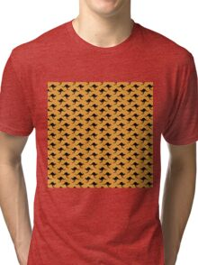 Kangaroo wallpaper - yellow background Tri-blend T-Shirt