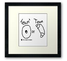 Team Bagel or Croissant Framed Print