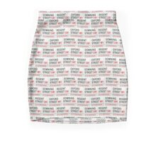 London Street Signs wallpaper Mini Skirt