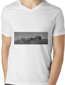 Sedona Arizona Panorama II BW Mens V-Neck T-Shirt