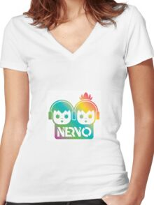 Nervo Logo Women's Fitted V-Neck T-Shirt