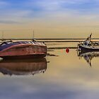 Boats on the waterfront at Hoylake by Paul Madden
