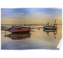 Boats on the waterfront at Hoylake Poster