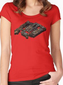 Isometric CSGO Train Poster Women's Fitted Scoop T-Shirt