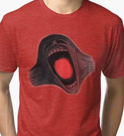 Screaming Face - The Wall Tri-blend T-Shirt