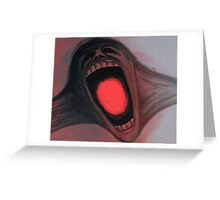 Screaming Face - The Wall Greeting Card
