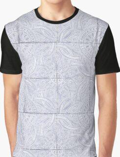 Lavender Portuguese Tile Pattern Graphic T-Shirt