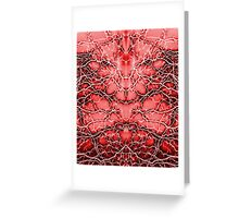 Red Thunders, Bolts, Lightning on sky pattern Greeting Card