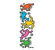 Keith Haring Color People Photographic Print