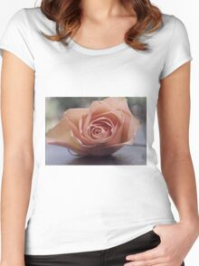 Dusty Peach Women's Fitted Scoop T-Shirt
