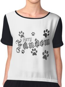 Fur Pride Retro Design Chiffon Top