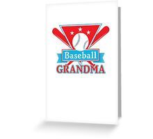 Baseball Grandma T Shirt - Sports Team Grandparent Support Pride  Greeting Card