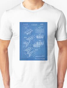 LEGO Construction Toy Blocks US Patent Art blueprint T-Shirt