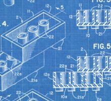 LEGO Construction Toy Blocks US Patent Art blueprint Sticker