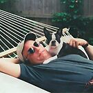 Bob and Luci in Hammock by Karen Checca