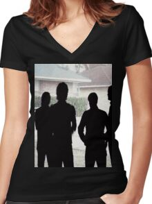 Arcade Fire Band Women's Fitted V-Neck T-Shirt