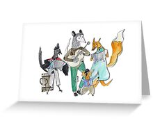 Animal Family Band Greeting Card