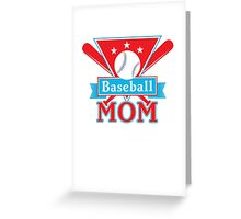Baseball Mom T Shirt - Sports Team Father Support Pride  Greeting Card
