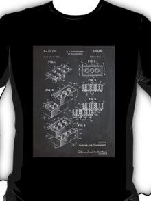 LEGO Construction Toy Blocks US Patent Art blackboard T-Shirt
