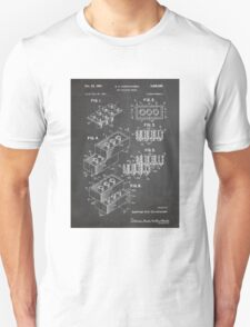 LEGO Construction Toy Blocks US Patent Art blackboard T-Shirt