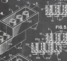 LEGO Construction Toy Blocks US Patent Art blackboard Sticker