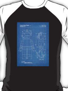 LEGO Minifigure US Patent Art Mini Figure blueprint T-Shirt