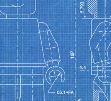 LEGO Minifigure US Patent Art Mini Figure blueprint Sticker