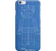 LEGO Minifigure US Patent Art Mini Figure blueprint iPhone Case/Skin