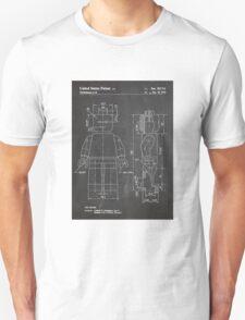 LEGO Minifigure US Patent Art Mini Figure blackboard T-Shirt
