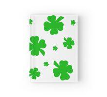 Green Shamrocks for the Irish Hardcover Journal