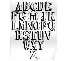 ABC HI - BLACK Poster