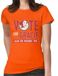 Gracie Allen for President Womens Fitted T-Shirt