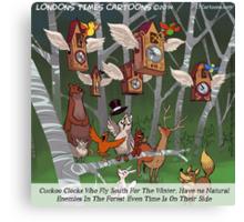 Cuckoo Clocks Flying South 4 The Winter Canvas Print